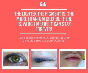 The lighter the pigment is, the more titanium dioxide there is, which means it can stay forever!-4